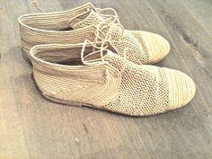 // Handmade Moroccan straw shoes