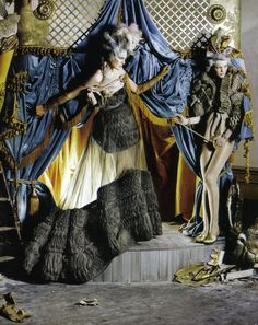 Lady Grey. Stella Tennant in Givenchy Spring 2007 haute couture  Imogen Morris Clarke in Givenchy Spring 2008 haute couture; photographed by Tim Walker for Vogue Italia, March 2010.