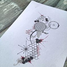 Geometric tattoo abstract science polygon