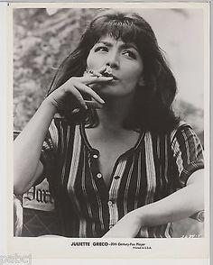 "Juliette Greco ""The Big Gamble"" Photo - 8X10 - 1961 Black & White"