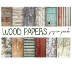 WOOD DIGITAL PAPER Printable Papers Rustic Wood by DigitalAlice