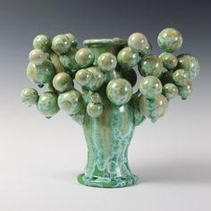Kate Malone: A Green Atomic Tree Candlestick, 2013