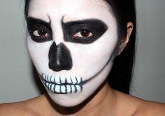 FOTD: Halloween Skeleton Makeup Look - Makeup For Life