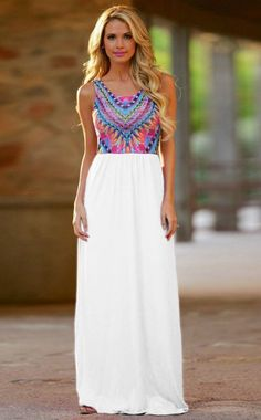 Just Dreaming Retro Maxi Dress www.thechicfind.com
