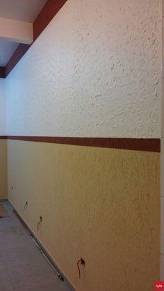 Efeitos decorativos com grafiato e massa corrida CYZ na nova sede do Aviário Pedigree (Cajuru).  Trabalho de Daniel Gomes de Souza - (41)9620-7088.