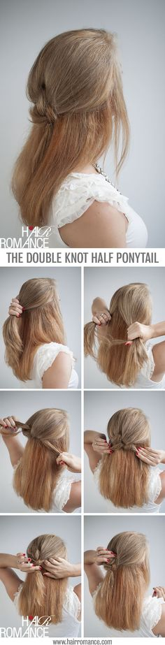 Knot Your Average Half Pontytail