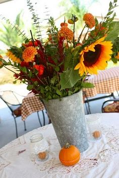 Lots of cute ideas for fall theme shower