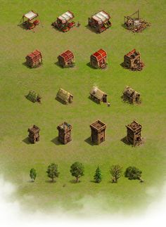 Buildings & environment for strategy game on Behance
