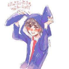 When Hiro's hood have ears♥