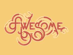 Image result for awesome typography