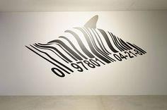 Barcode Dolphin Wall Decal Sticker Banksy Style | Street art | artist graffiti stencil urban walls wallart spray paint stencil wall porn by BrutalVisual