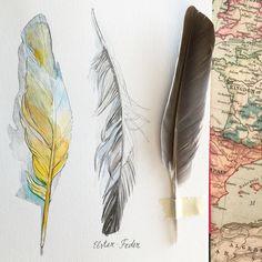 Feathers inspire me #natalie_ratkovski #drawing #sketchbook | Flickr - Photo Sharing!