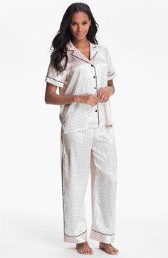 Oscar de la Renta Sleepwear Pattern Charmeuse Pajamas available at  Nordstrom Womens Pjs da33edb9a