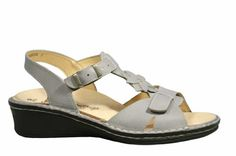 Finn Comfort Womens Brione SandalsGray45 M UK  7 BM US * See this great product.