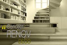 ça y est enfin, le nouveau site de Concept Rénovdéco est en ligne... Architecte d'intérieur Paris IDF Bookcase, Internet, Paris, Design, Home Decor, Living Spaces, Ile De France, Fishing Line, Cat Breeds