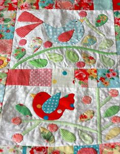 Very cute and well appliqued block.  It is also a terrific example as to why ironing is soooo important! ....Quilt Fabric Delights Creative - QFD Creative