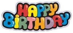 Illustration about Happy birthday cartoon sign - illustration. Illustration of abstract, colorful, decoration - 16032289 Happy Birthday Logo, Birthday Icon, Birthday Clips, Birthday Cartoon, Birthday Gift Cards, Birthday Card Template, Happy Birthday Letters, 17 Birthday, Birthday Sayings