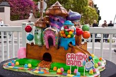 Candy Castle, an edible cake from real life Candyland game in San Francisco
