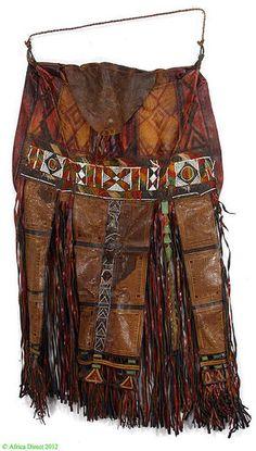Tuareg Leather Bag with Fringe Niger Africa