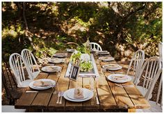 Archive Rentals | Vintage Rentals. The perfect rustic farmers market inspired wedding table set up.