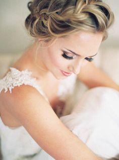 updo wedding hairstyle idea; photo: Sarah Carpenter via Style Me Pretty