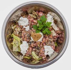 Home Cooked Dog Food, Make Dog Food, Canned Dog Food, Homemade Dog Food, Dog Recipes, Raw Food Recipes, No Grain Dog Food, Dog Diet, Raw Food Diet