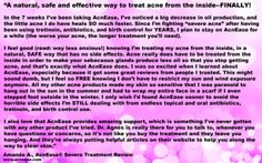 Glowing review from Amanda, who loves that AcnEase is safe and that she receives support from the AcnEase team! #acne www.acnease.com
