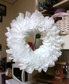 $2.00 Coffee Filter & Pool Noodle Wreath