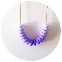 Blackcurrant Purple Handmade Polymer Clay Bead by palindromeandco