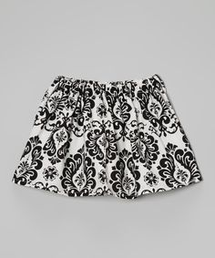 Look at this #zulilyfind! Black & White Damask Skirt - Infant, Toddler & Girls by Heavenly Things for Angels on Earth #zulilyfinds