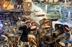Naval battle between Russian and Japanese fleets, Russo-Japanese War