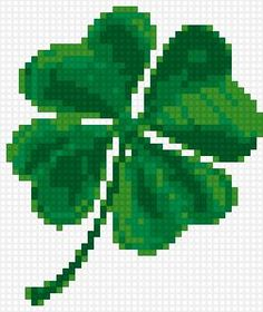 Clover Modern Cross Stitch Patterns, Counted Cross Stitch Patterns, Cross Stitch Designs, Cross Stitch Embroidery, Embroidery Patterns, Celtic Cross Stitch, Cross Stitch Boards, Crochet Chart, Cross Stitch Flowers