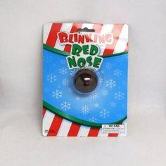"for Advent calendar...Blinking Light up Flashing Red ""Rudolph"" Nose"