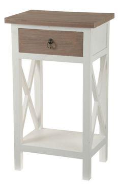 Pikkupöytä Stina.  Pöydän koko on 38 x 28 x 66 (korkeus) cm. Materiaalina puu. 99€