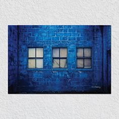 3 Windows Blue Wall by Peter Hernandez
