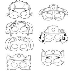 Coloring Paw Patrol Masks Sketch Coloring Page