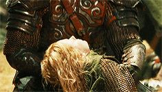 'Eowyn, Eowyn! How come you here?! What devilry is this! Death! Death be upon us all!'