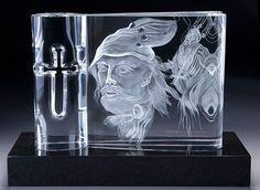 Crystal Sculpture-Steuben Crystal MacBeth Sculpture, Dallas Auction Gallery, 2014, $28,750