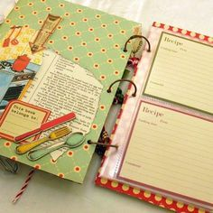 Mini Albums, Mini Scrapbook Albums, Scrapbook Journal, Scrapbook Cards, Family Recipe Book, Recipe Books, Recipe Book Covers, Family Recipes, Scrapbook Recipe Book