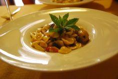 a dish of pasta パスタ料理
