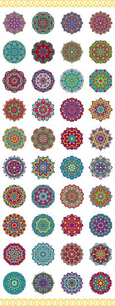 80 Vector Mandalas Vintage Ornament by Qilli on @creativemarket