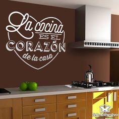Wall Stickers Spanish Cocina Heart Vinyl Wall Mural Decal Kitchen Wall Decals Home Decor House Decoration Art Wallpaper Price history. Category: Home & Garden. Subcategory: Home Decor. Wall Mural Decals, Kitchen Wall Decals, Kitchen Decor, Kitchen Tile, Wall Art, Feng Shui, Cheap Wall Stickers, Piece A Vivre, Paper Decorations