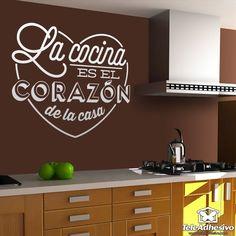 Vinilo decorativo La cocina es el corazón de la casa