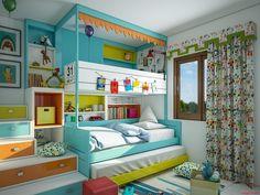 Urządzenie pokoju dla dzieci nie jest sprawą prostą, zwłaszcza gdy dwójka rodzeństwa musi zmieścić się na 12 m2. Na szczęście, wymyślono łóżka piętrowe…    #łóżkapiętrowe  #pokójdziecka #DecoArt24