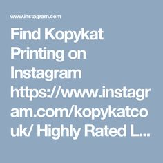 Find Kopykat Printing on Instagram https://www.instagram.com/kopykatcouk/ Highly Rated London Printing Services. East London Based Print Shop. Quality Print and Design Service. Stationary, Flyers, Leaflets, Brochures & Booklets.  Kopykat Printing  76C Rivington Street London EC2A 3AY  020 7739 2451  print@kopykat.co.uk  http://www.kopykat.co.uk
