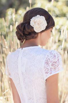 Percy Handmade   Silk hair flower and wedding accessories - Bridal Musings Wedding Blog Wedding inspiration and ideas here: www.weddingideastips.com
