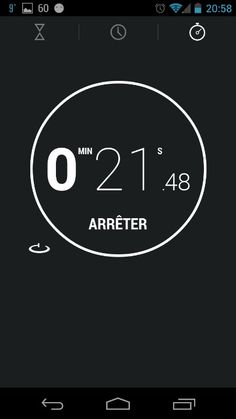 Timer app | Android 4.2 Jelly Bean OS Web Design, Design Ideas, Timer App, Cooking Icon, User Experience Design, Android Apps, Free Android, Ui Inspiration, User Interface Design
