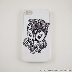 Little Owl iPhone 5 Case, iPhone 4 case, iPhone 4s Cover , Hard Plastic iphone 5 Cover, cases on Etsy, $16.04 CAD