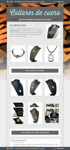 Collares de cuero especiales con precio especial