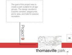 Landscape Architecture Portfolio, layout